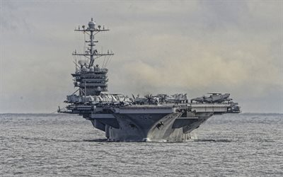 USS Harry S Truman, CVN-75, Nimitz-class, aircraft carrier, American warship, nuclear aircraft carrier, US Navy