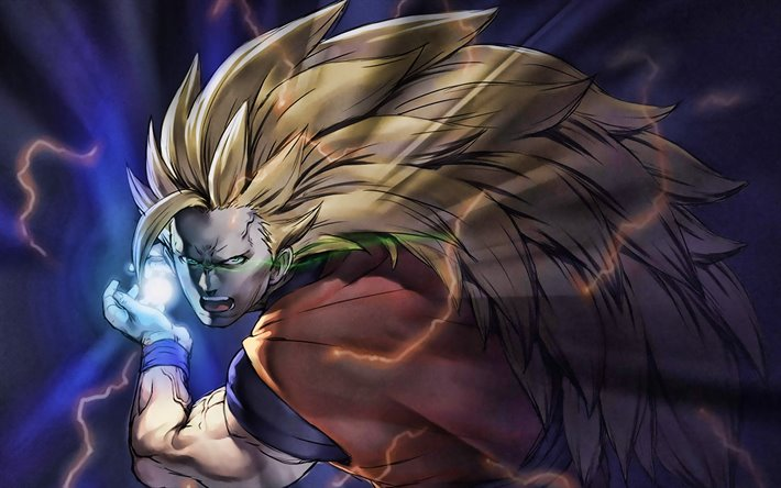 Golden Goku, darkness, Goku SSJ3, artwork, Dragon Ball Super, manga, DBZ, Son Goku, Goku Super Saiyan 3, DBS