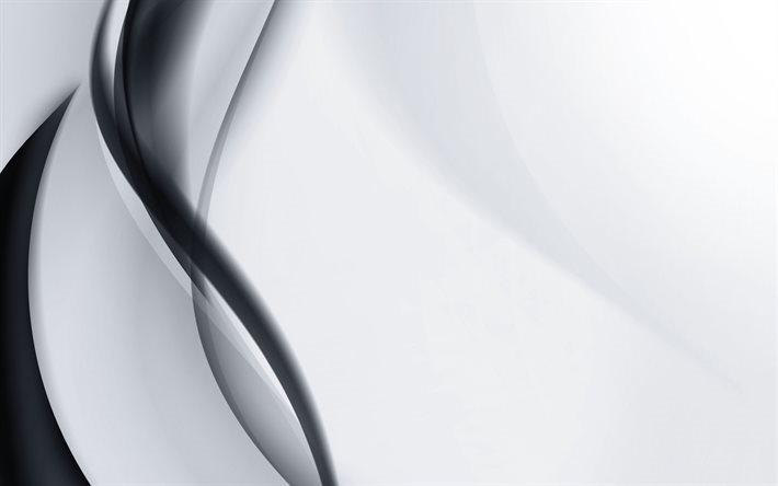 Scarica Sfondi In Bianco E Nero Onde Nero Onda Astratto Onda