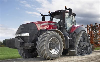 tractor, Case IH Magnum, 2016, agricultural machinery, tractor on caterpillars, agriculture, farming