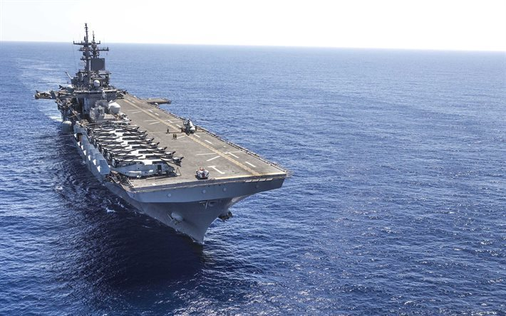 aircraft carrier, US Navy, US Army, ocean