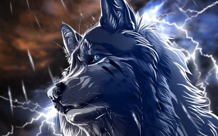 Wolf Painted Neon Art