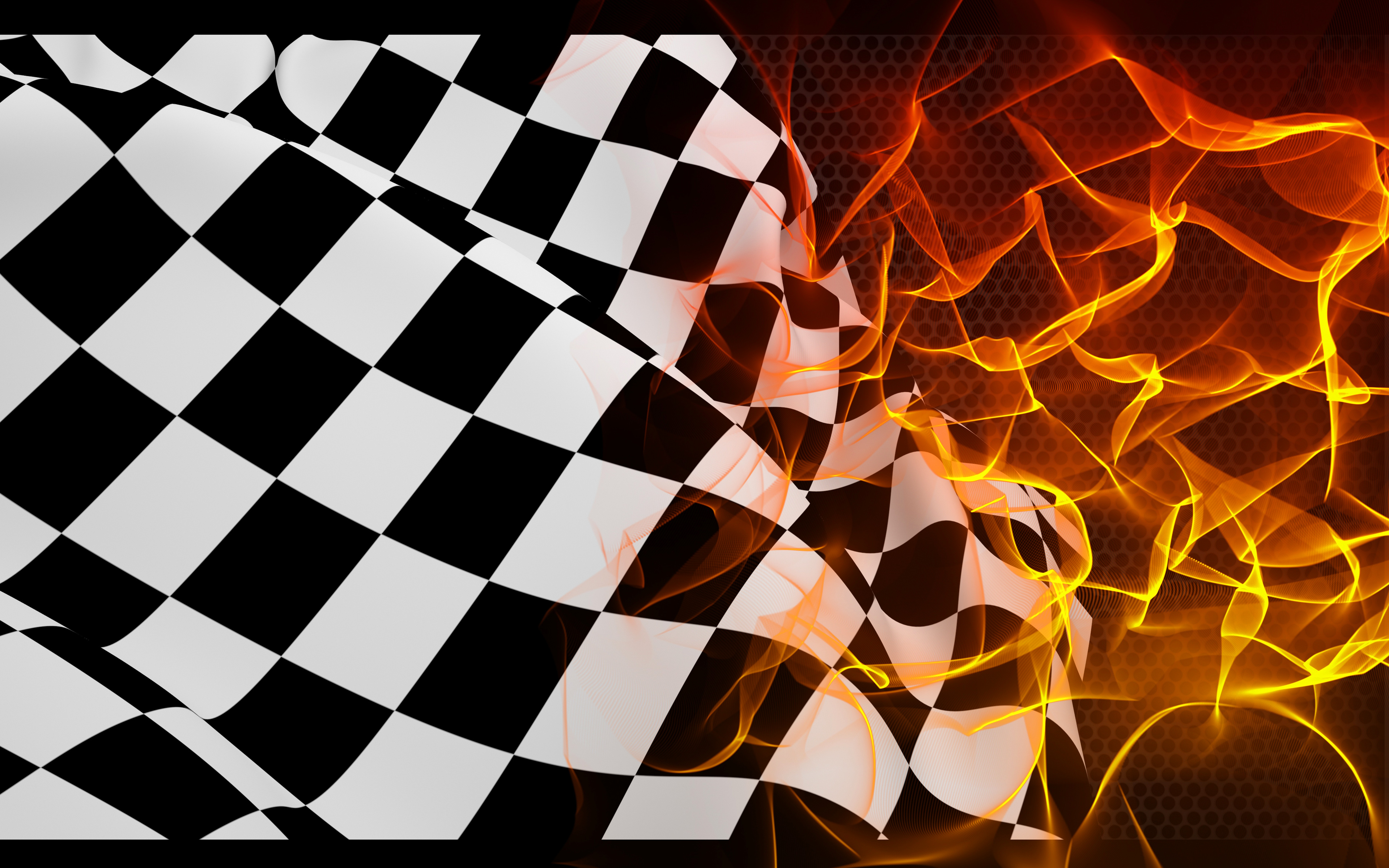 Download wallpapers checkered flag, finish, fire, flame ...