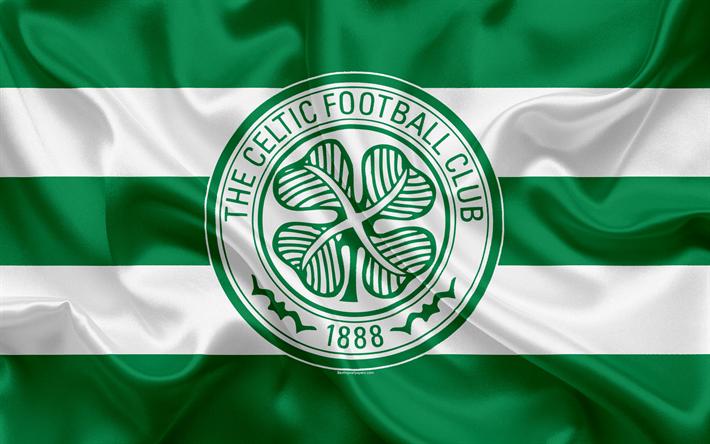 Download Wallpapers Celtic Fc 4k Scottish Football Club Logo Emblem Scottish Premiership Football Glasgow Scotland Uk Silk Flag Scottish Football Championship For Desktop Free Pictures For Desktop Free