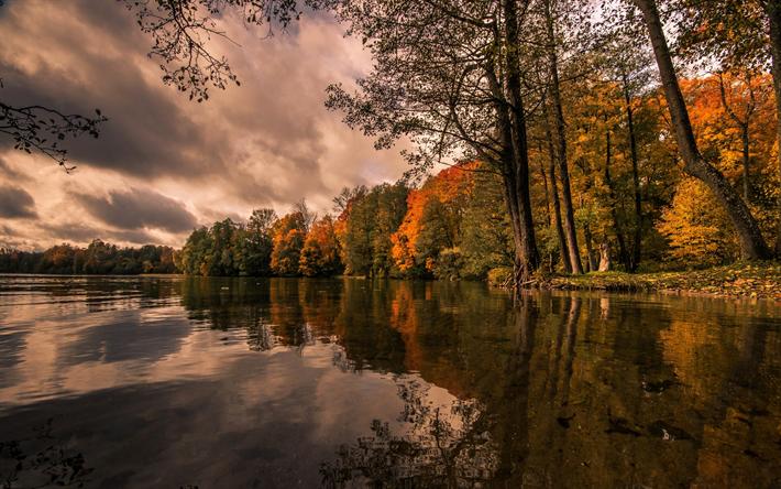 foto de Télécharger fonds d'écran Lac Hancza automne jaune