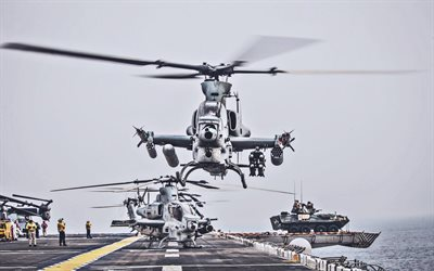 Bell AH-1Z Viper, military helicopters, American Army, US Marine Corps, Bell, Army of USA, attack helicopters