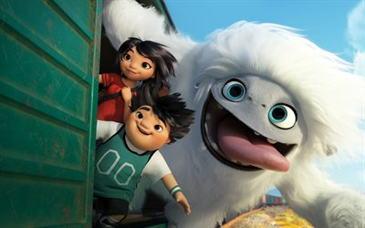 Abominable, 4k, Yi, Peng, Everest, 2019 movie, poster, 3D-animation, fan art, 2019 Abominable