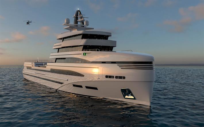 Spadolini Concept Superyacht 4k Rosetti 85 Luxury Yacht Sea