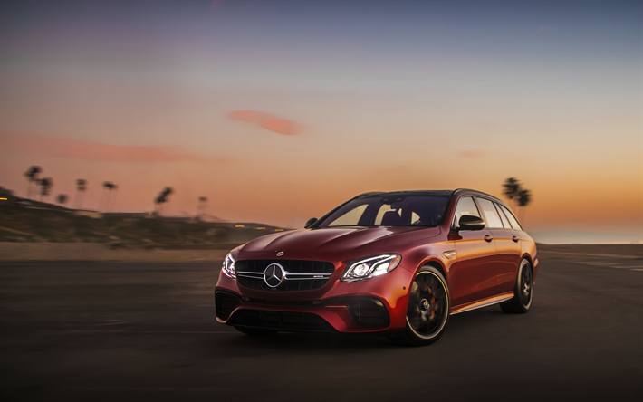 Download Wallpapers 4k Mercedes Benz E63 Amg S Wagon Headlights