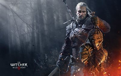 Witcher 3, Wild Hunt, 2017, Poster, new games