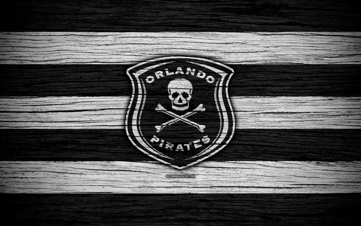 Download Wallpapers Fc Orlando Pirates 4k Wooden Texture South