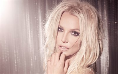 Britney Spears, porträtt, make-up, amerikansk sångerska, star, blont
