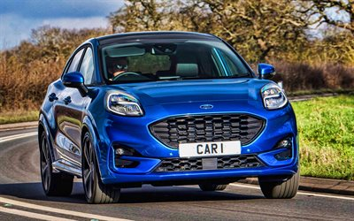 Ford Puma ST-Ligne, route, 2020 voitures, HDR, royaume-UNI-spec, X-Design Pack, 2020 Ford Puma, Ford