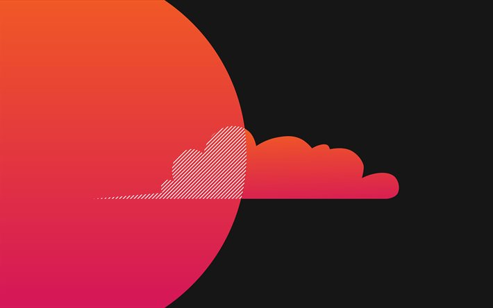 Download Wallpapers Pink Cloud 4k Minimal Gray Background