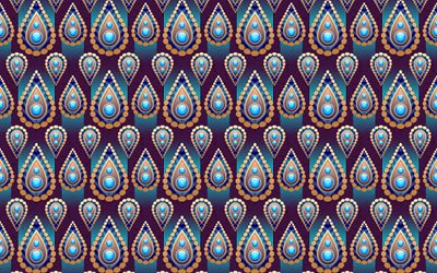 4k, abstract paisley-hintergrund, paisley-muster, florale muster, abstrakte florale ornamente, bunte paisley-hintergrund, retro paisley-muster, retro floral background