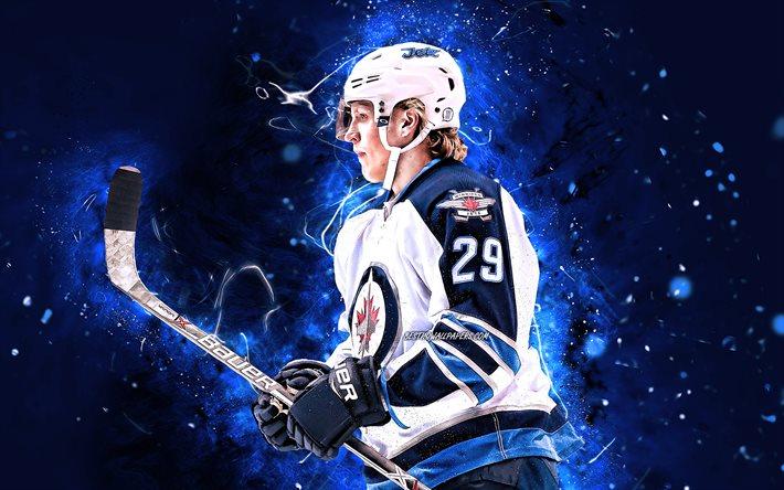 Download Wallpapers Patrik Laine 4k Nhl Winnipeg Jets Hockey Stars Hockey Blue Neon Lights Hockey Players Patrik Laine Winnipeg Jets Patrik Laine 4k For Desktop Free Pictures For Desktop Free