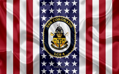 USS Coronado Emblem, LCS-4, American Flag, US Navy, USA, USS Coronado Badge, US warship, Emblem of the USS Coronado