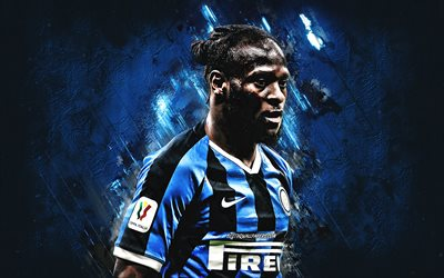 Victor Moses, Inter Milan, Nigerian footballer, Serie A, FC Internationale, football, blue stone background