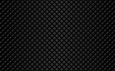 black cubes, 4k, squares patterns, 3D art, black squares, cubes patterns, geometry, cubes texture, squares textures, geometric shapes, black backgrounds