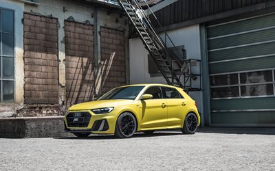 ABT, Audi A1, 2020, front view, exterior, tuning A1, custom A1, yellow new, German cars, Audi