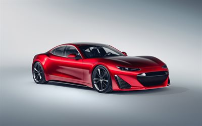 2020, Drako GTE, EV Hypercar, front view, red sports coupe, electric sports cars, Drako