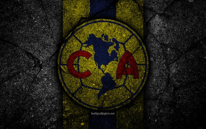 Download Wallpapers 4k Club America Fc Logo Liga Mx Football