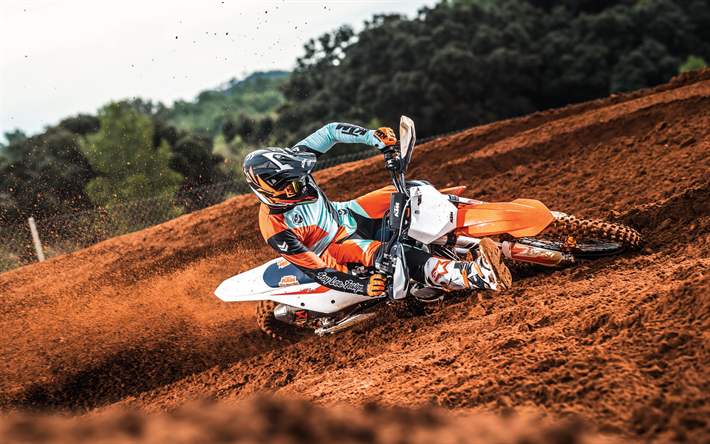 Download Wallpapers 4k, KTM 450 SX-F, Motocross, Extreme