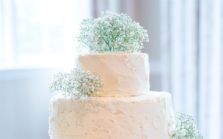 Download wallpapers Wedding cake, flower decoration ...