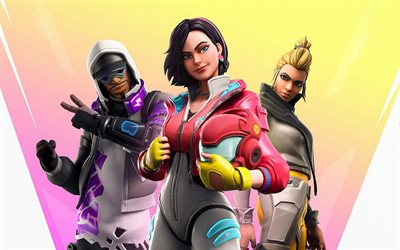 Fortnite, 2020, Absolute Zero, promo materials, poster, main characters, Aerobic Assassin