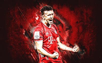 Ivan Perisic, FC Bayern Munich, croatian footballer, midfielder, portrait, Bundesliga, red stone background, Bayern Munich, football