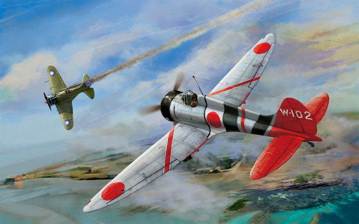 Mitsubishi A5M, Polikarpov I-16, WWII aircraft, fighters, Aircraft of World War II, Military aircraft