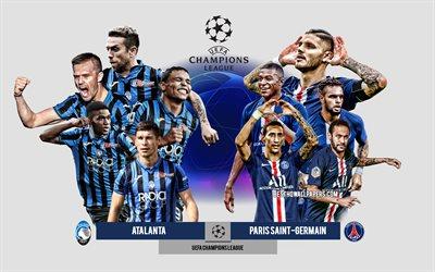 Download wallpapers Atalanta vs Paris Saint-Germain, UEFA ...