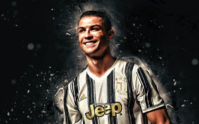 Download Wallpapers Cristiano Ronaldo New Uniform 2020 Juventus Fc Cr7 4k Portuguese Footballers Italy Bianconeri Joy Soccer Cr7 Juve Football Stars Serie A Cristiano Ronaldo 4k White Neon Lights For Desktop Free