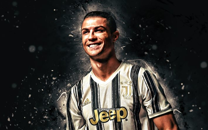 download wallpapers cristiano ronaldo new uniform 2020 juventus fc cr7 4k portuguese footballers italy bianconeri joy soccer cr7 juve football stars serie a cristiano ronaldo 4k white neon lights for desktop free cristiano ronaldo 4k