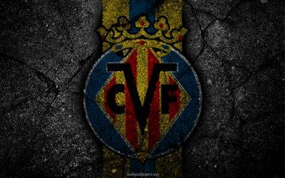 Villarreal, le logo, l'art, La Liga, football, club de football, LaLiga, grunge, Villarreal FC