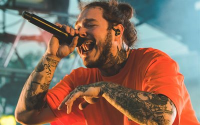 4k, Post Malone, 2018, superstars, concert, american singer, guys, celebrity