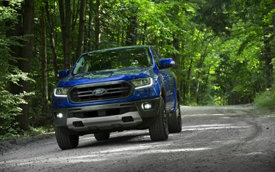 2020, Ford Ranger, FX2 Package, exterior, front view, blue pickup truck, new blue Ranger, tuning Ranger, american cars, Ford