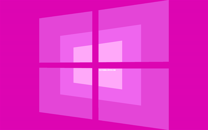 4k -, windows-10 purple-logo, minimal, os, lila hintergrund, -, kreativ -, marken -, windows-10-logo, artwork, windows 10