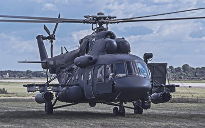 Mi-8, 4k, russian military helicopter, Hip, Mil Mi-8, Russian Air Force, Mil Helicopters, Russian Army