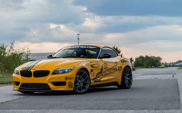 download wallpapers bmw z4 2017 e89 yellow z4 sports. Black Bedroom Furniture Sets. Home Design Ideas