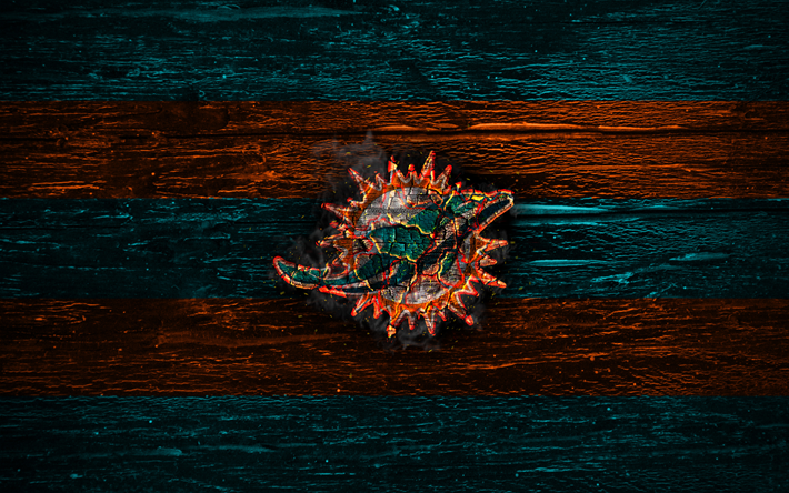 Download wallpapers miami dolphins fire logo nfl blue and orange lines american football - Miami dolphins wallpaper ...