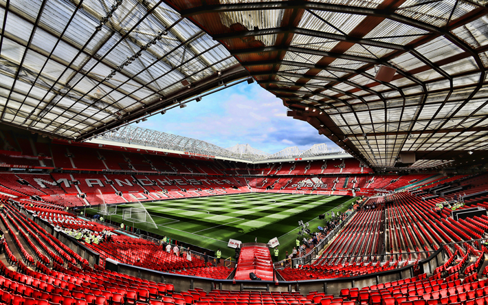 Download Wallpapers Manchester United Stadium 4k Soccer