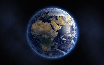 Earth, our planet, space, solar system, 3d Earth