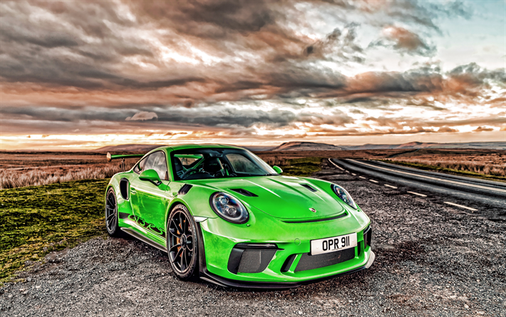 Download Wallpapers 4k Porsche 911 Gt3 Rs Hdr 2019 Cars Green Porsche 911 Supercars German Cars Porsche 2019 Porsche 911 For Desktop Free Pictures For Desktop Free