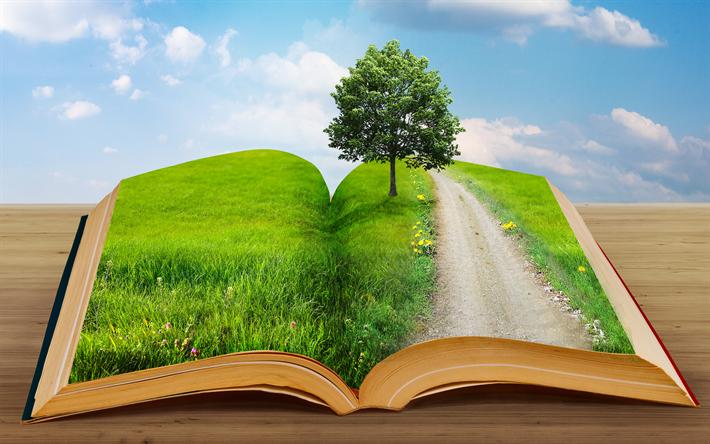 foto de Descargar fondos de pantalla ecología 4k libro verde el medio ambiente los conceptos de