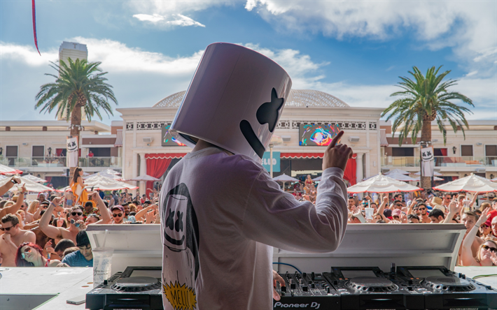 Marshmello, EDM, concert, party, dance, electronic music, Christopher Comstock, American DJ