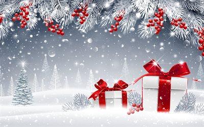 Scarica sfondi natale i regali del nuovo anno palle di for Sfondi natale 3d