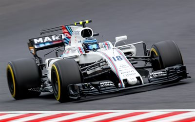 Lance Stroll, Williams FW40, Formula 1, number 18, Williams Martini Racing, F1, Canadian racer