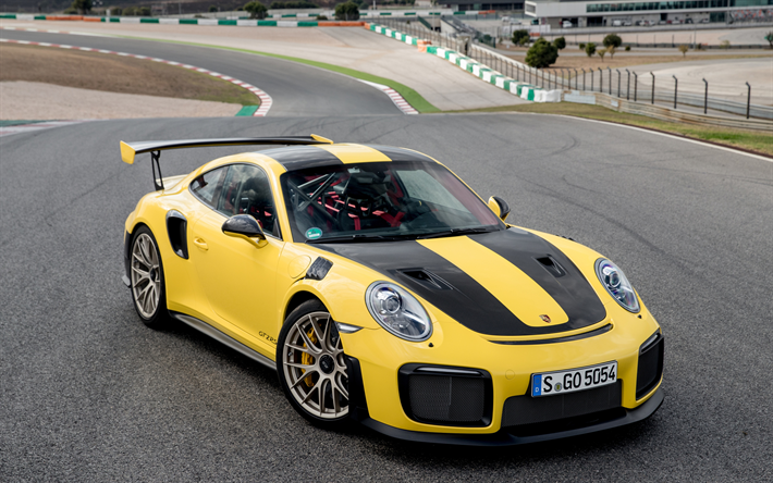 download wallpapers porsche 911 gt2 rs 4k sportcars 2017 cars yellow 911 porsche for. Black Bedroom Furniture Sets. Home Design Ideas