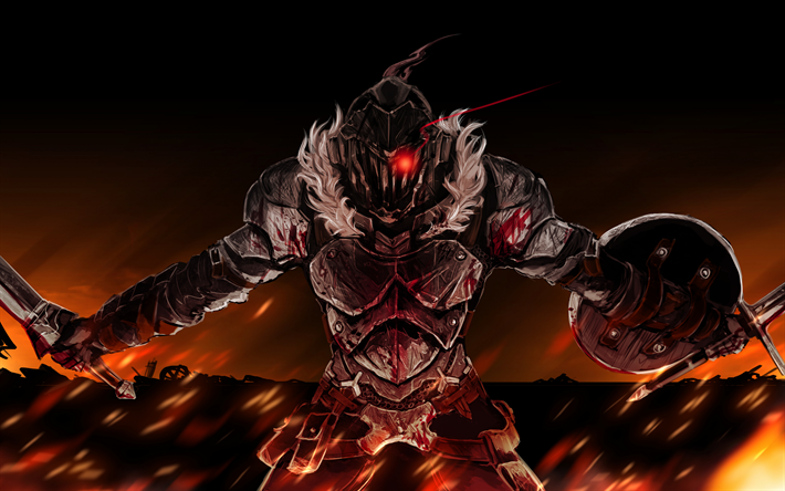 Download Wallpapers Goblin Slayer Red Eye Warrior Manga